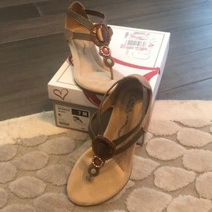 Mia Amore Brown Sandals